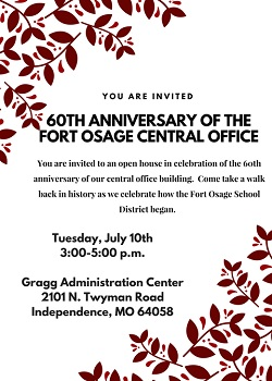 Celebration of our Central Office July 10 from 3-5pm